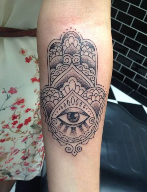The 25 best ideas about hamsa tattoo placement on for Hamsa elephant tattoo