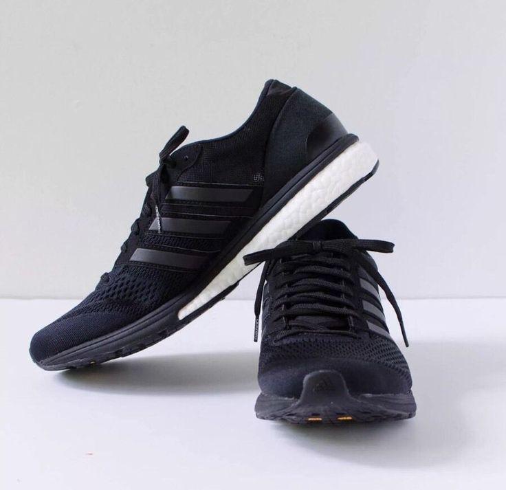 Adidas Adizero Boston Boost Sz7 Women Black Sneakers Running Shoes Trainers RARE | eBay