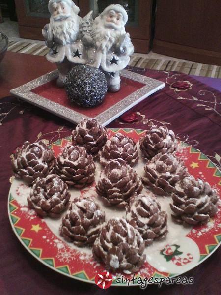 Σοκολατένια κουκουνάρια #sintagespareas
