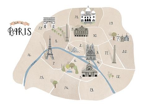 Paris by Clare Owen: Clare Owens, Ahhh Paris, Paris Maps, Arrondiss Paris, Parisians Maps, Places, Digital Prints, Paris Bedrooms, Owens Illustrations