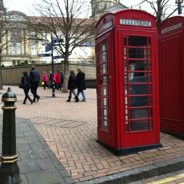 Classic British phone box