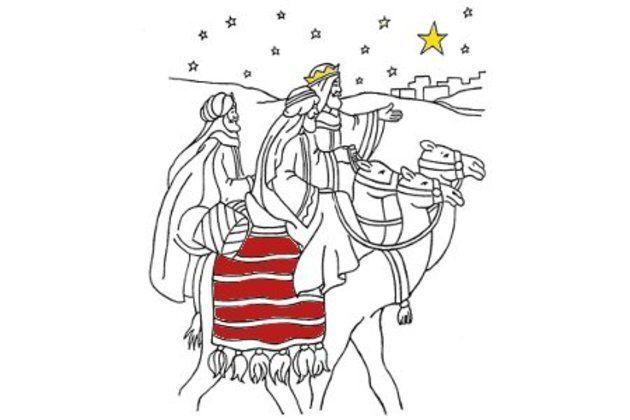 Dibujos de Reyes Magos para colorear