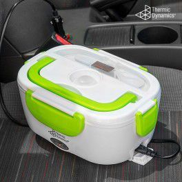 Thermic Dynamics Electric Lunch Box for Cars  Heat your food quickly and easily thanks to the Thermic Dynamics electric lunch box for cars! You can enjoy a hot meal any time you're away from home by simply plugging this thermal lunch box into the car cigarette lighter.  http://shopana.eu/en/vehicle-accessories/7542-thermic-dynamics-electric-lunch-box-for-cars.html