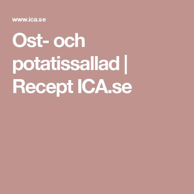 Ost- och potatissallad | Recept ICA.se