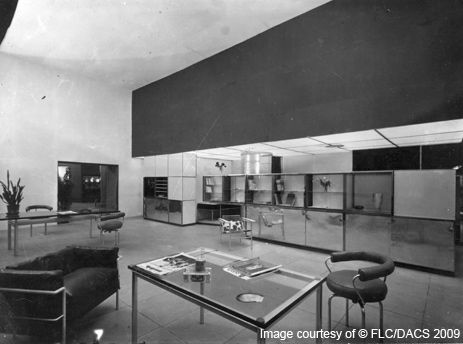 Le Corbusier designed interiors and furniture for the Salon d'Automne in 1929