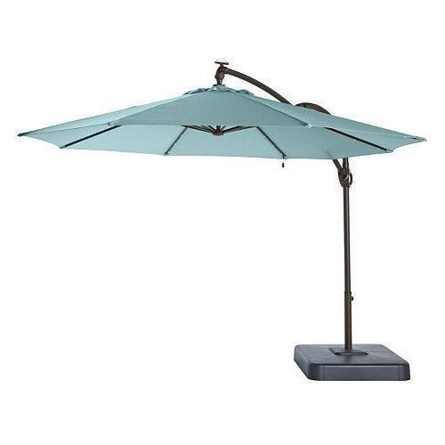 Led Solar Patio Umbrella Stand And Frame Steel Inspired Weather Resistance New #LedSolarPatioUmbrella