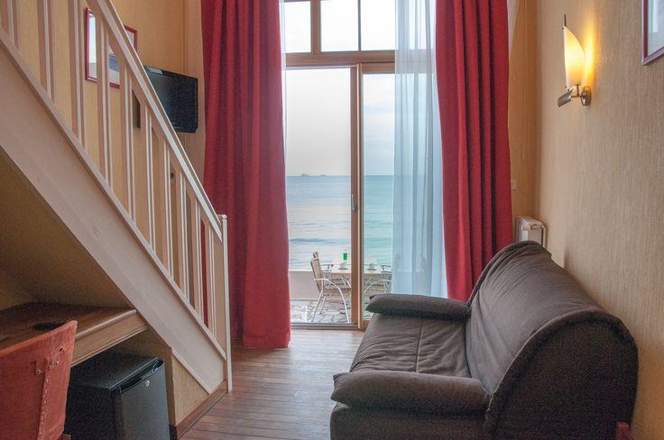 Duplex 4 personnes vue sur mer-Chambre familiale à Saint-Malo