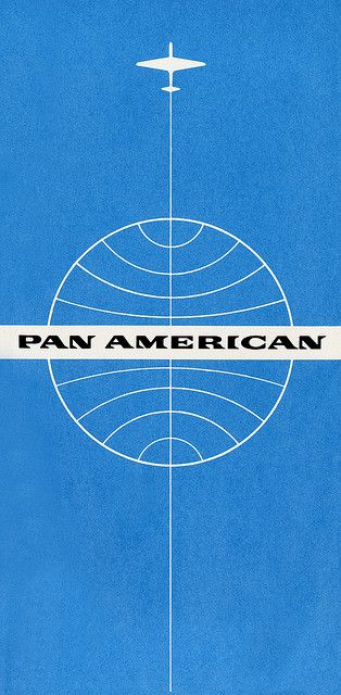 Pan American World Airways ticket jacket c. 1960.