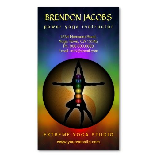 298 best yoga instructor business cards images on pinterest yoga chakras pose yoga instructor business cards business card template reheart Image collections