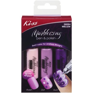 Kiss Marbleizing Pen & Polish Nail Art Kit, 3 pc