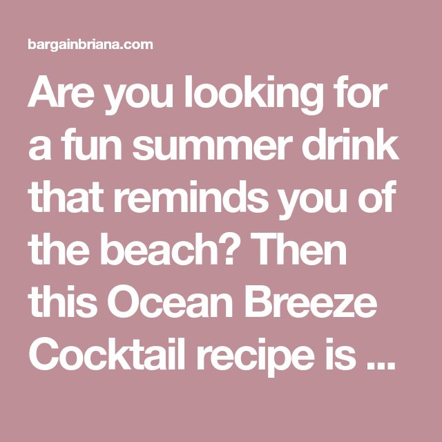 Cocktail Recipes, Summer