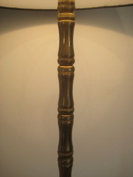 Faux bamboo floor lamp