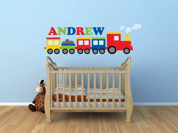 Train Decal Name Decal  Wall Decal Name Decal  Train by YendoPrint, $45.00