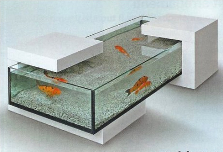 Custom coffee table aquarium aquariums pinterest for Table salon aquarium
