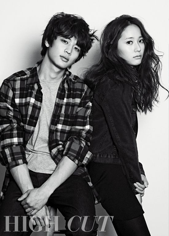 SHINee's Minho and f(x)'s Sulli and Krystal pose for 'High Cut'