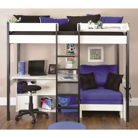 Stompa Uno 5 Nero Highsleeper with Desk and Pullout Bed – Next Day Delivery Stompa Uno 5 Nero Highsleeper with Desk and Pullout Bed from WorldStores: Everything For The Home