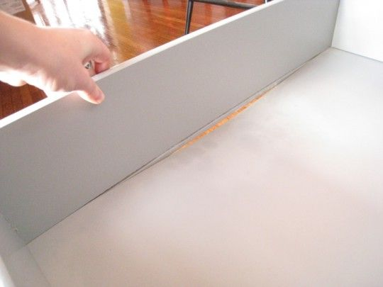 So happy to have found this, my Ikea dresser  needs a fix!
