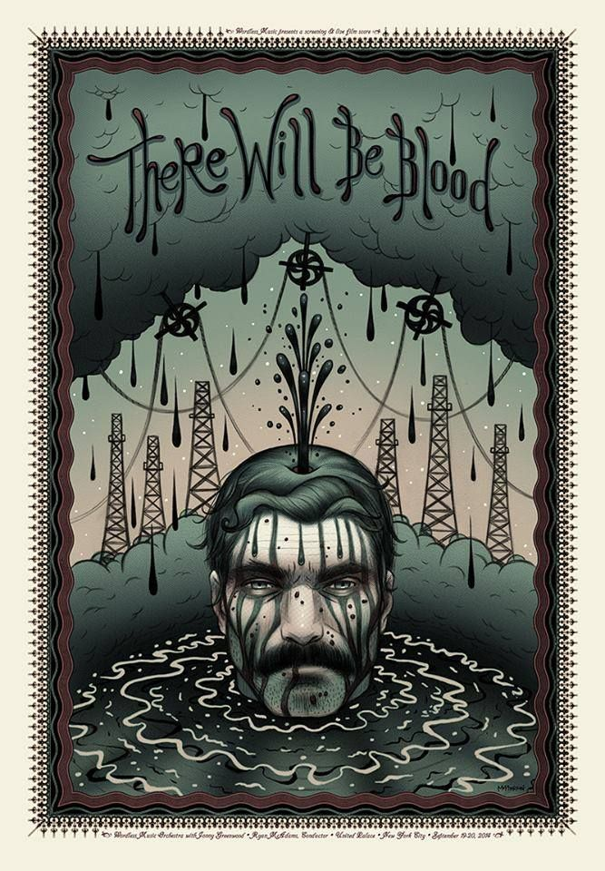Poster de There will be blood (Pozos de ambición) / Ilustración