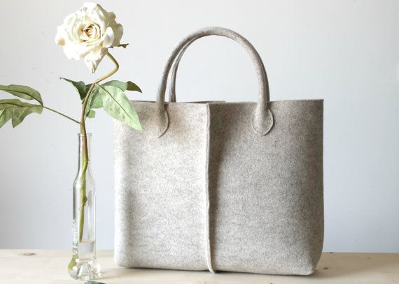 Elegant and Casual Felt Bag from Italy, Tote Bag, Market Bag, Felt Tote, Everyday Tote, Handmade bag.