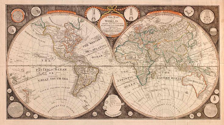 Παγκόσμιος Χαρτης Αντίκα 1799  http://www.printcenter.com.gr/hartes.html