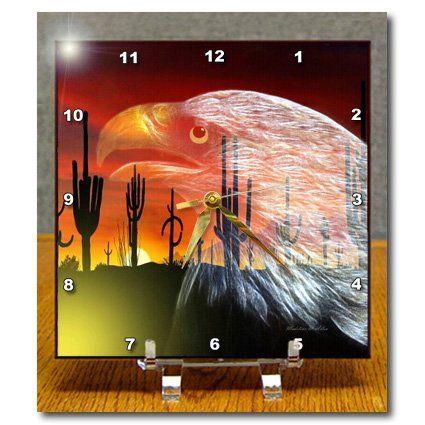 dc_101123_1 SmudgeArt Bird Art Designs - Eagle Cactus - Protector 0f The Desert - Desk Clocks - 6x6 Desk Clock 3dRose http://www.amazon.com/dp/B00B8AZGI2/ref=cm_sw_r_pi_dp_5RQbwb13TCV57