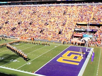 """#1 - Tiger Stadium, #LSU. Athlon Sports Ranks the SEC's College Football Stadiums. """"As one of the loudest and most rabid atmospheres in the nation, LSU boasts one of the most daunting home-field advantages in college football — especially at night."""""""