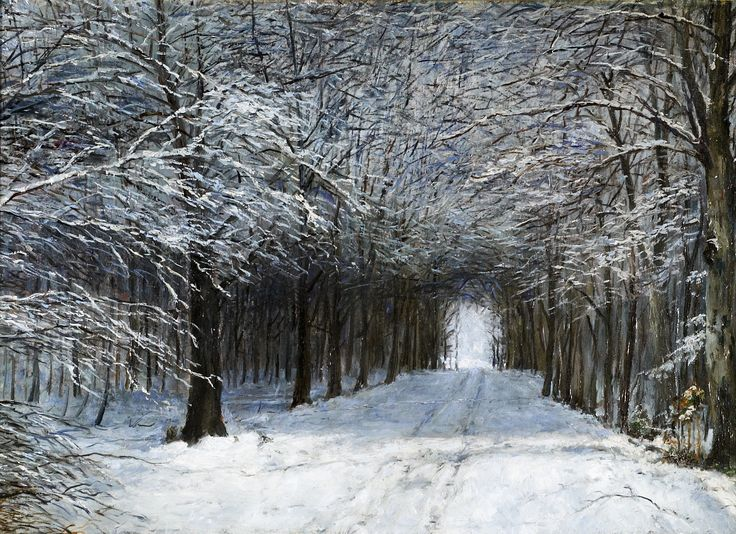 Mednyánszky Ladislav / László : Zimná alej