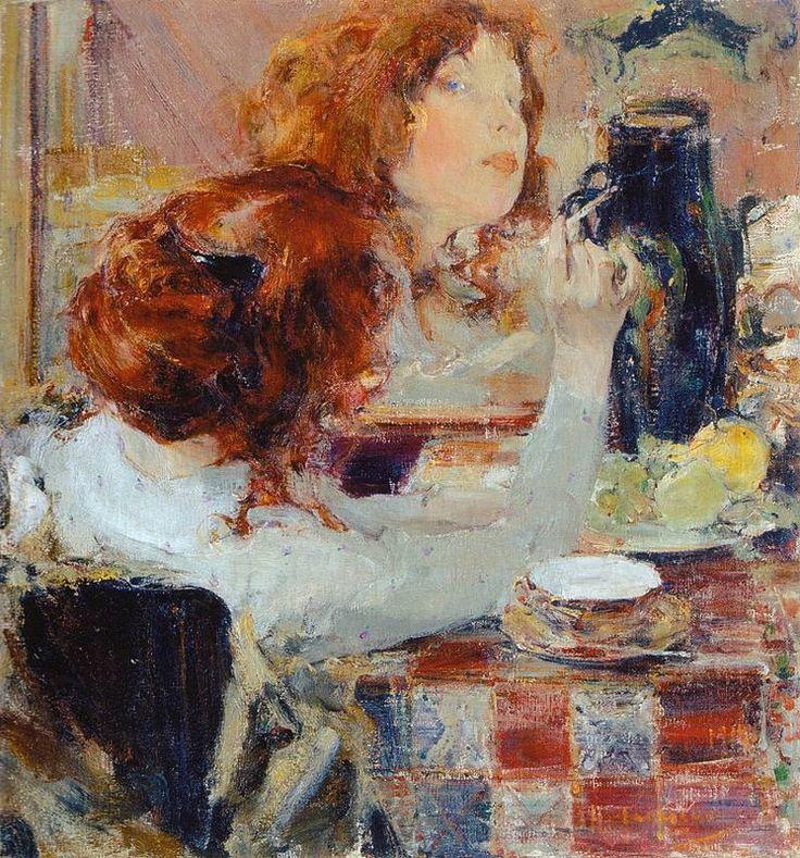 http://www.liveinternet.ru/community/2281209/post329873040/ Н. Фешин. Золотые волосы (1914)