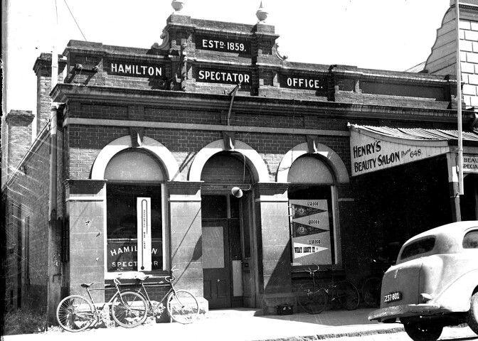 1942. Hamilton Spectator Offices. Victoria Australia.