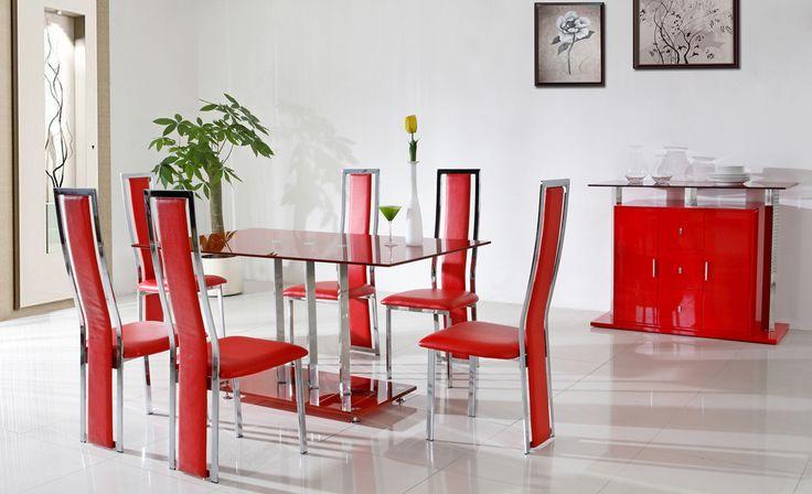 sillas-de-comedor-rojas-modernas