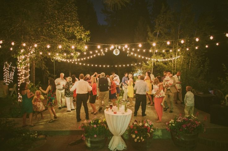 outdoor dance floor & lighting | The Twenty Mile House, Cromberg, CA