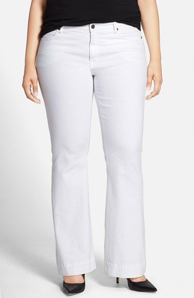 CJ by Cookie Johnson 'Worthy' Stretch Flare Leg Jeans (Plus Size) available at #Nordstrom