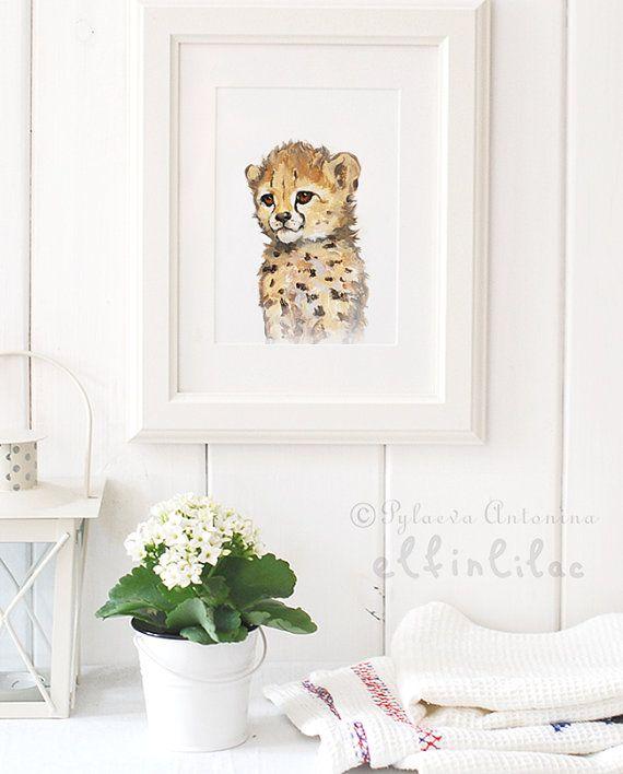 Retrato de los animales Safari Set Giclee Safari infantil