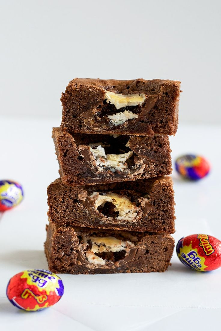 These Cadbury Creme Egg Brownies are perfect for Easter! These really are a chocoholics dream! Quick, easy and oh so delicious!! #easter #cadbury #creme #egg #brownies #easy #recipe #chocolate