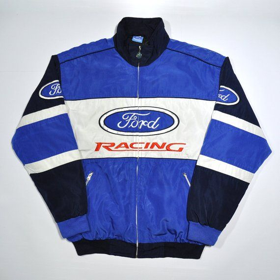 Clothing, Shoes, Accessories Vintage 90s Ford Racing Satin Bomber Jacket And To Have A Long Life. Coats & Jackets
