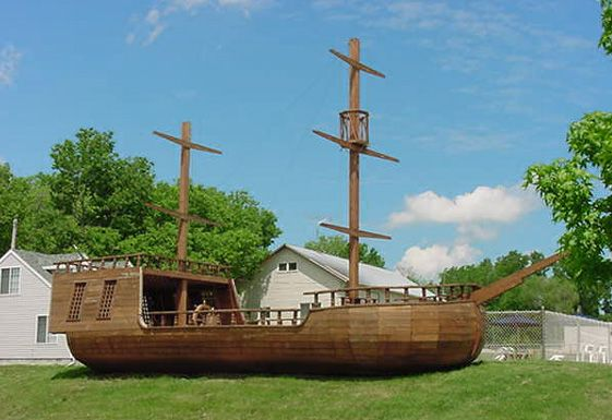 561 385 pixels woah dream backyard - Pirate ship wooden playground ...
