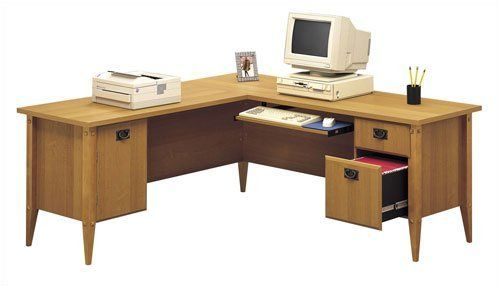 Bush Furniture Mission Pointe L Desk by Bush. $490.99. Bush WC91310-03 Bush's Office Furniture offers an unparalleled selection of designs and finishes, fashioned with both style and durability in mind. And with many pieces having features such as adjustable levelers for stability on uneven floors, adjustable shelves, durable edging, and grommets for wire access and concealment, you'll find Bush Office Furniture as functional as it is beautiful. Features: -Hutch ...
