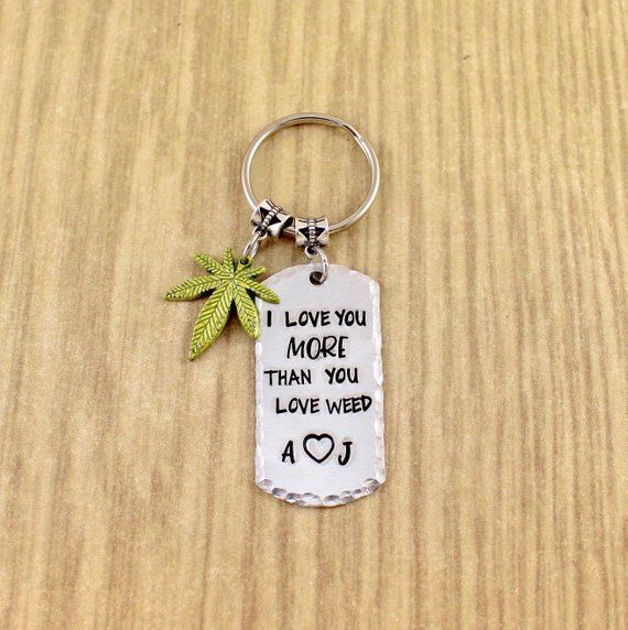 Unkraut Geschenk für Freund / Freundin – Paare Pot Leaf Keychain – ich lieb…