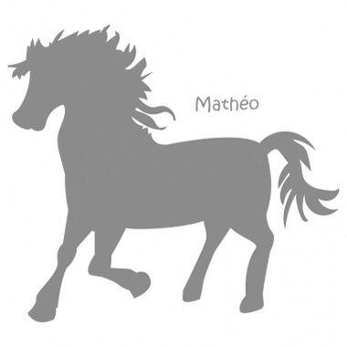 Cadeau malin: Stickers personnalisés poney