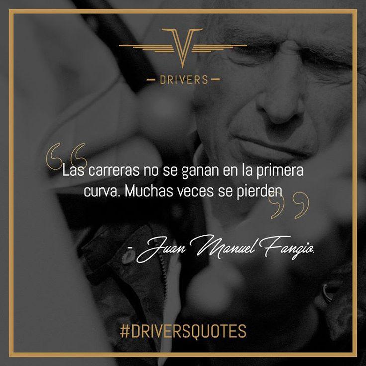 Una gran leyenda como Juan Manuel #Fangio junto sus cinco títulos mundiales de Fórmula 1 no podía faltar en nuestras #DriversQuotes.    #Drivers #DriversChile #Cars #Quotes #Fórmula1 #F1 #CarLovers #Miniaturas #AutosAEscala #Herramientas #Limpieza & #Detailing #Santiago #Chile