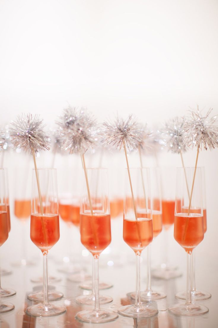 Make your party sparkle! Craft your own tinsel top drink stirs.