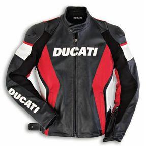 SPEED '10 LEATHER JACKET, DUCATI MOTORCYCLE JACKET, BIKER LEATHER JACKET