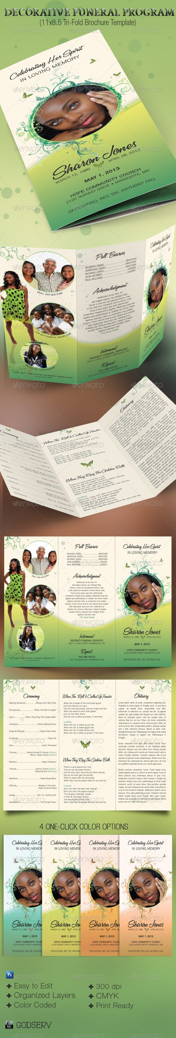 52 best funeral bulletins images on pinterest program template