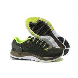 Nike LunarGlide+ 4 Shield Herresko Sort Brun Grøn