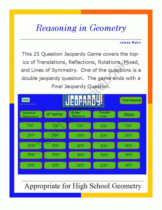 Smartboard lessons geometry high school