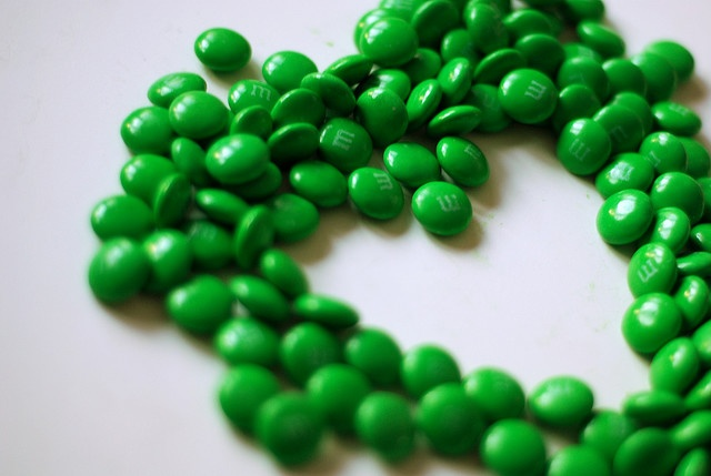 green m&m heart | GREEN! Green! I LOVE Green!!!!! :) | Pinterest | Green, Shades of green and Green colors