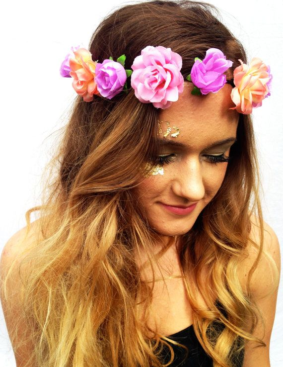 flower headband tumblr girl - photo #39