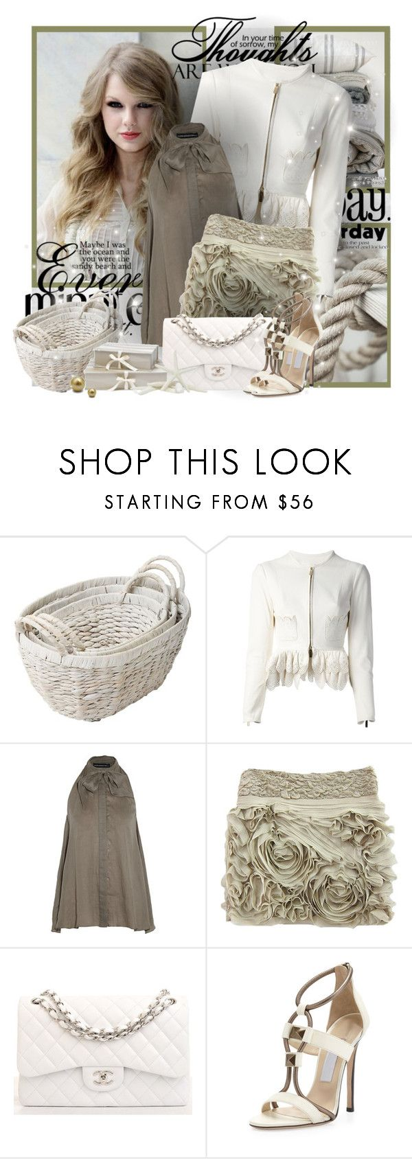 """№ 570"" by olga3001 ❤ liked on Polyvore featuring Monday, Shabby Chic, Dsquared2, Maria Grachvogel, Christian Louboutin, Chanel and Jimmy Choo"