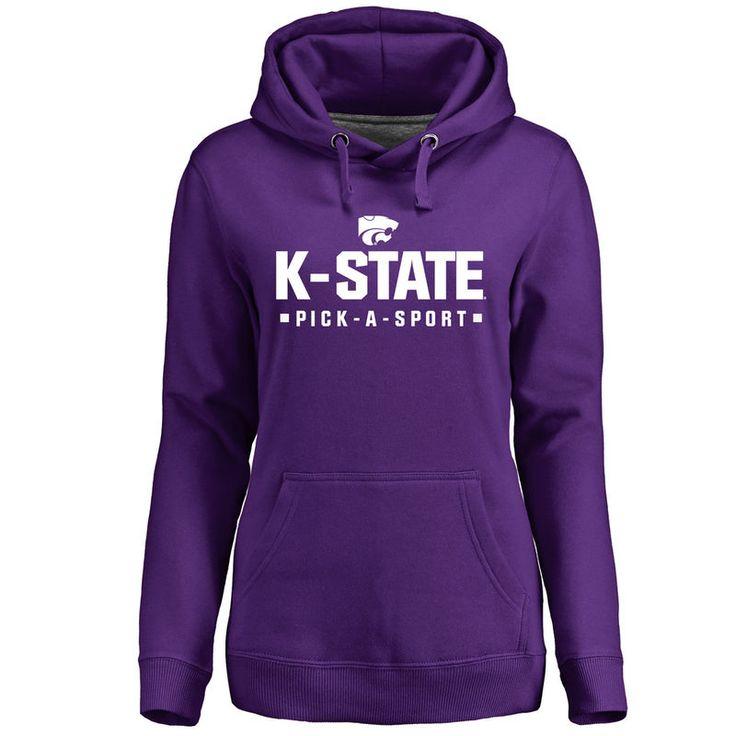 Kansas State Wildcats Women's Custom Sport Pullover Hoodie - Purple