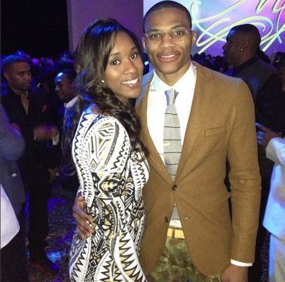 Russell Westbrook Girlfriend Nina 2014 | girl pictured with Russell Westbrook is his long time girlfriend Nina ...